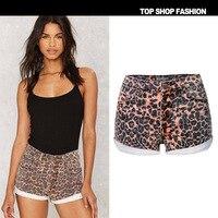 LIENZY Summer Sexy Leopard Short For Women With High Waist Trousers Female Denim Short Feminino Jeans