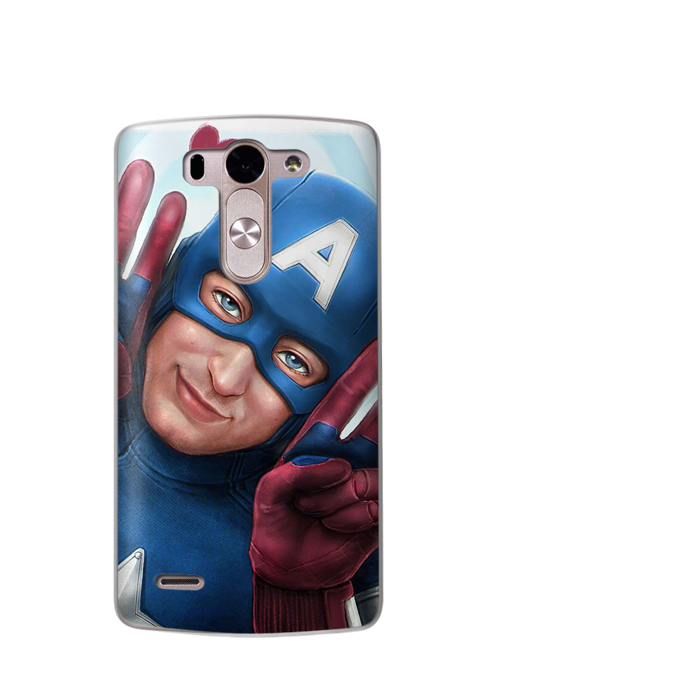 Luxury Marvel Avengers Spider Man Cute Heroes Phone Case For LG G6 G4 G5 Q8 Q6 K8 K7 K10 2017 X Power 2 3 V30 Coque Etui Cover in Fitted Cases from Cellphones Telecommunications