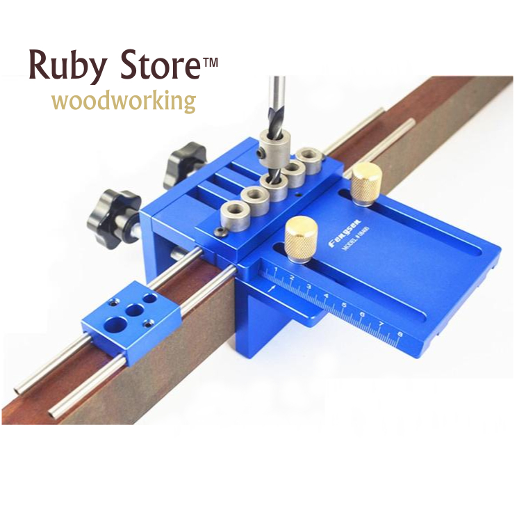 新アップグレード高精度 Dowelling Jig 5 メトリックダボ穴 (6 ミリメートル、 8 ミリメートル、 10 ミリメートル) 非常に正確な木工建具  グループ上の ツール からの 工具セット の中 1