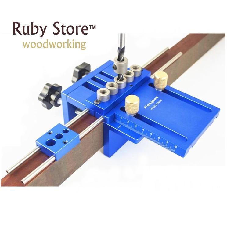 Nuovo Aggiornamento di Alta Precisione Dowelling Jig Con 5 Metrica Fori di Riferimento (6mm, 8mm, 10mm) Per La Lavorazione Del Legno Falegnameria Molto Preciso