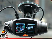 Discount! Dual Double Camera Recorder Dashboard Car HD DVR Black Box with GPS Logger G Sensor HD 720P