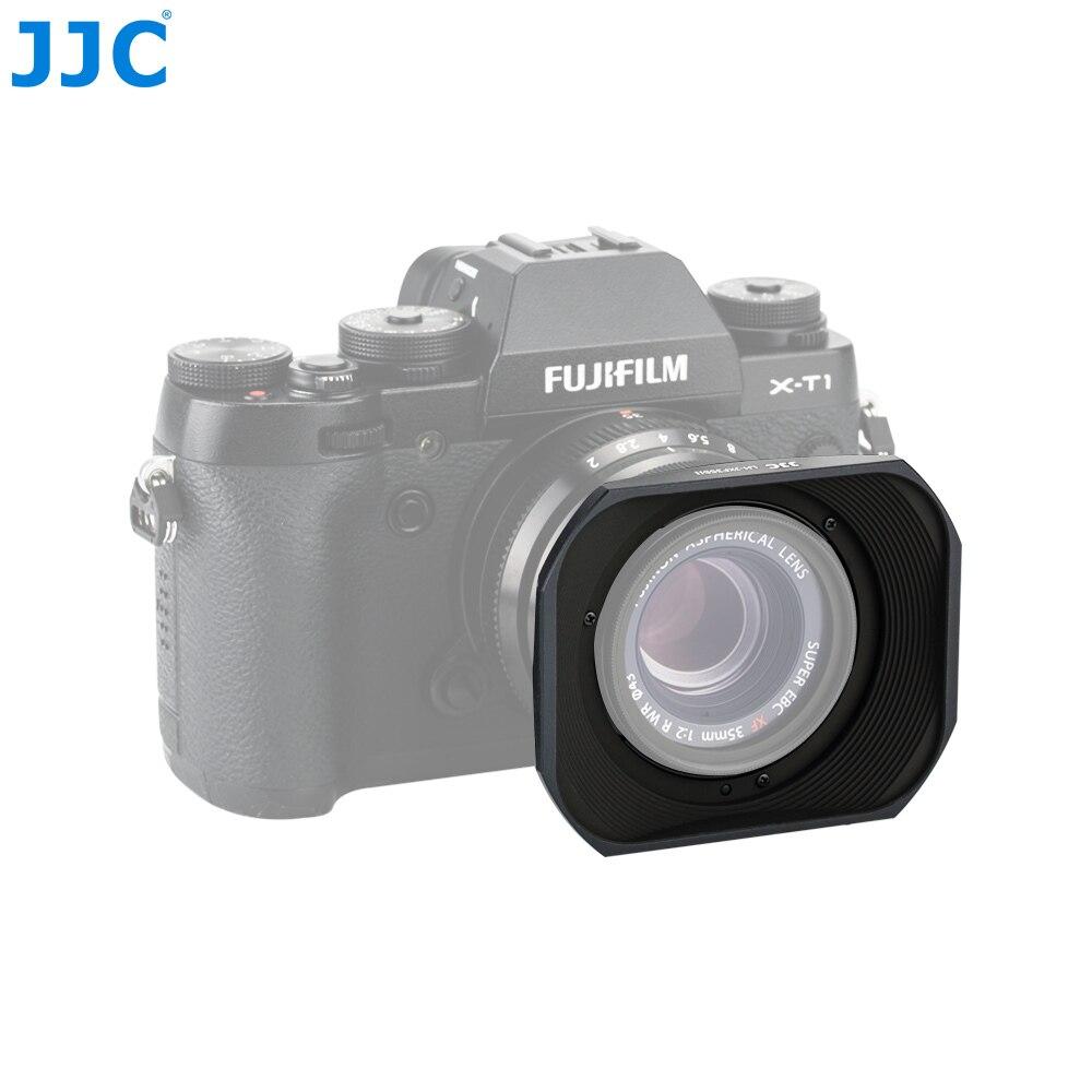JJC Camera Bayonet Square Metal 43mm Cap Lens Hood for FUJINON XF35mm 25mm F2 R WR