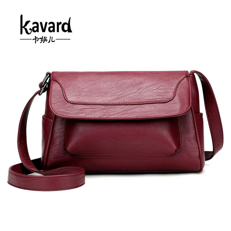 Kavard Lujo Mujeres de Los Bolsos Diseñador PU Cuero de la Mujer de Moda Bolsa d