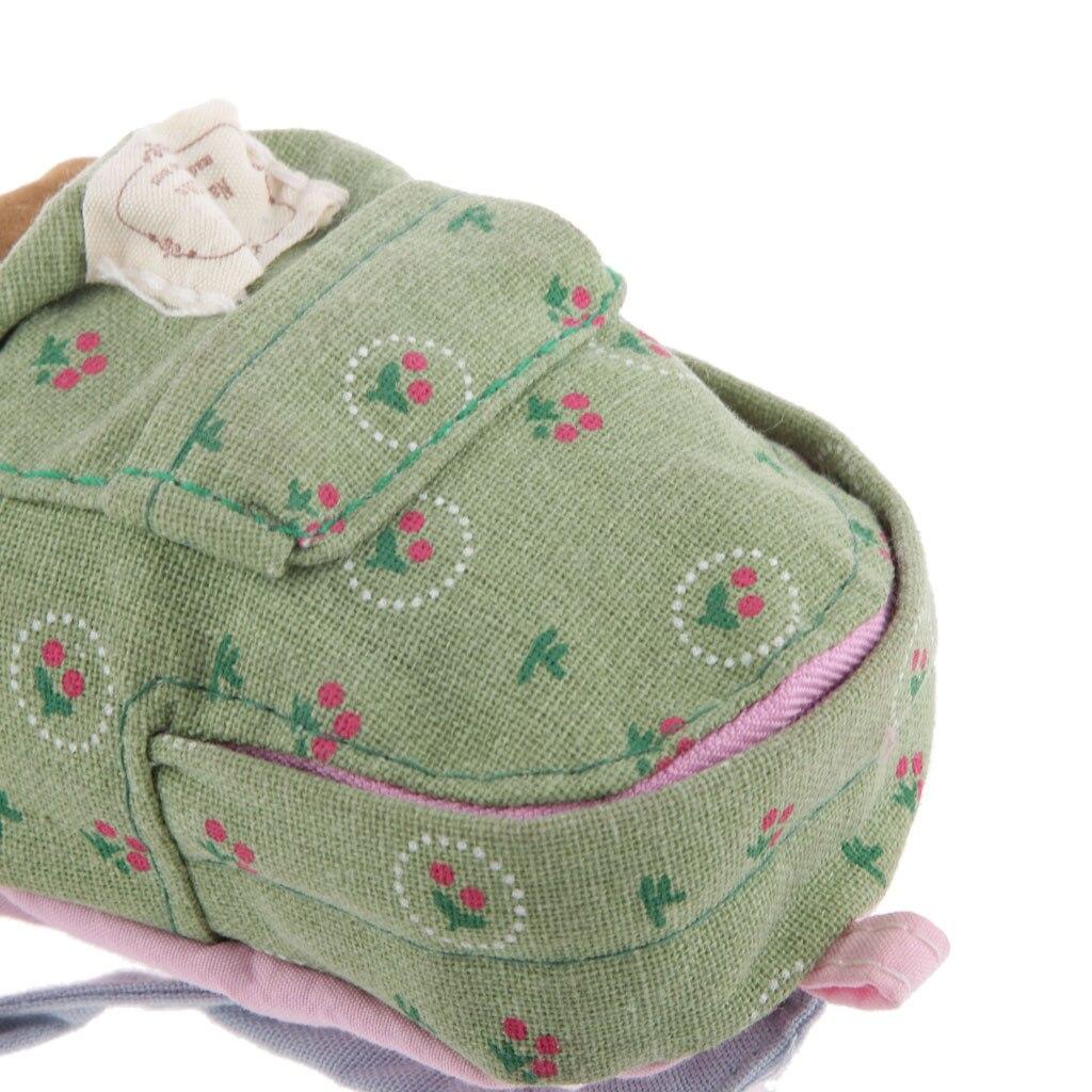 d2c812b37404 1 6 Scale Dolls House Miniature Backpack Shoulder Bag Green Floral ...