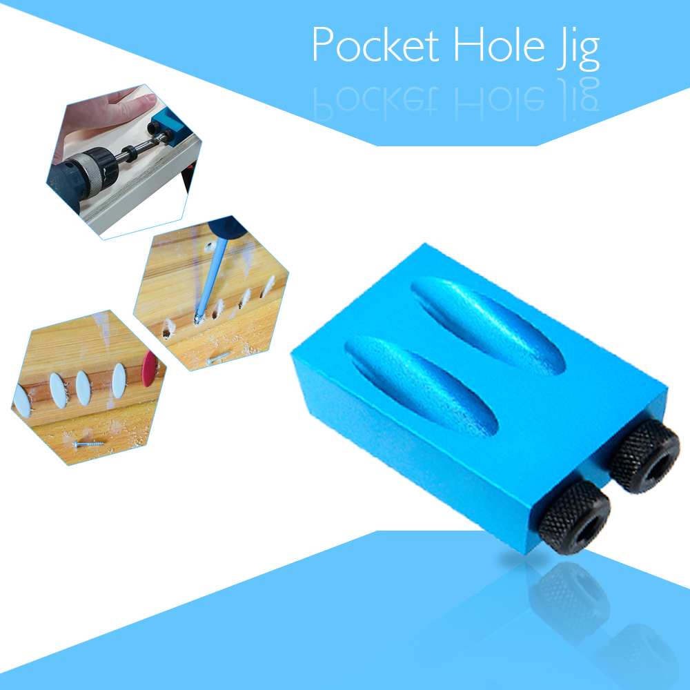 цена на Pocket Hole Jig Kit 6/8/10mm Drive Adapter for Woodworking Angle Drilling Holes Guide Wood Tools Hole Saw DIY Work Tool Set
