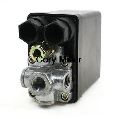 175PSI 1/4PT Thread 4Port 1Phase Pressure Switch for Air Compressor 13mm male thread pressure relief valve for air compressor