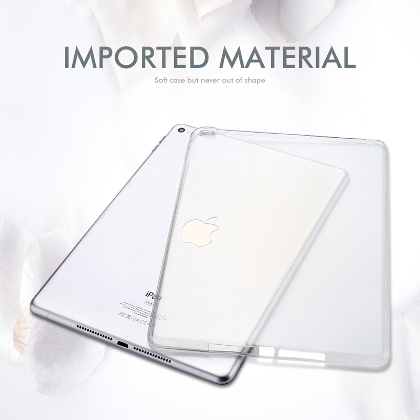 Soft Silicone Case For Apple iPad 2 3 4 Case Ultra thin Cover For iPad2 iPad3 iPad4 Cases Back Coque Transparent Tablet Bags in Tablets e Books Case from Computer Office