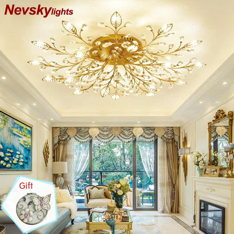 Modern ceiling light for dining room LED Crystal ceiling lamp crystal lamps for living room loft