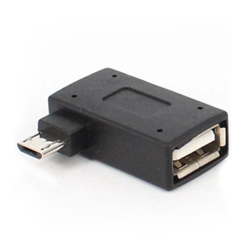 USB 2.0 90 Degree Left/Right Angle Convertor OTG Adapter Host Micro For Phone/tablet
