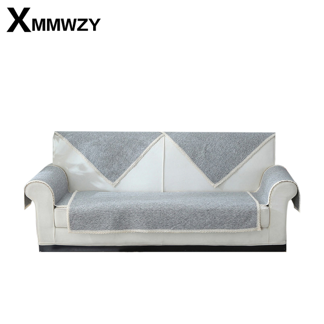 Cotton Weave Sofa Cover Europe Combination Kit Sectional Sofa Striped Sofa  Chair Slipcovers Sofa Cushion Custom