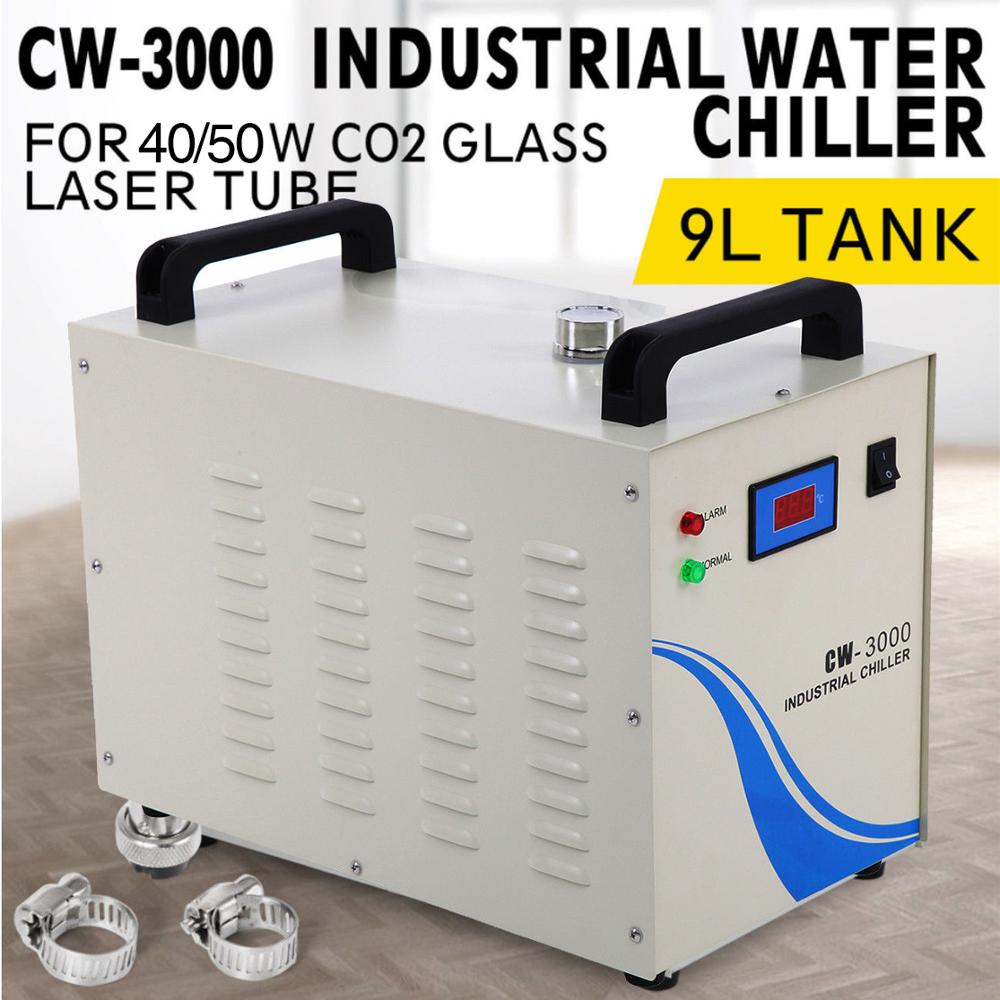 CW-3000 Industrial Water Chiller Chiller 40W/50W Co2 Glass Laser Tube Laser Engraver