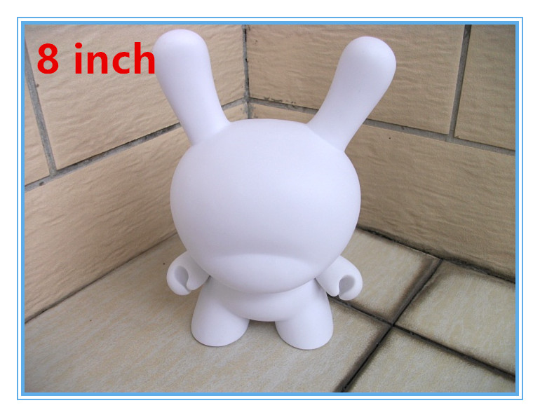 5pcs/Lot 8inch Kidrobot Dunny White Dolls Do It Yourself DIY Vinyl Art Figure Toys With Opp Bag