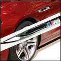 2 pcs/set M Logo Mpower blade fender Badge Emblem 3D Metal stickers For BMW E34 E36 E39 E53 E60 E90 F10 F30 M3 M5 M6 X1 X3 X5 X6