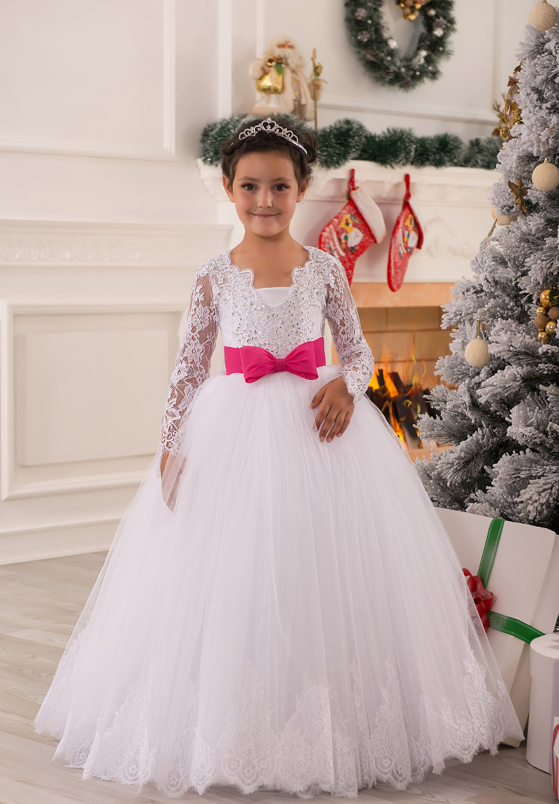 First communion dresses ball gown appliques lace tulle for Design your own wedding dress app