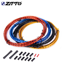цена на ZTTO mountain bike folding road bike bicycle CNC bamboo brake line cover elite aluminum alloy links mountain shift cable pipe 18
