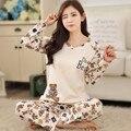 Lovely pyjamas Fashion New Girls Pajamas causal carton women pajamas sets Sleepwear For women Home wear clothes Nightgown Sets