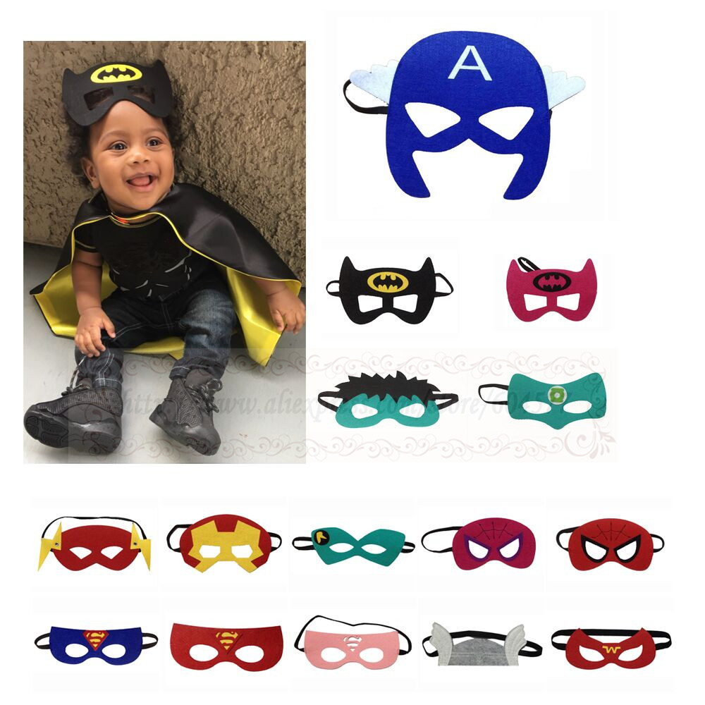Choose from 170 Styles Superhero masks - Kids Birthday Party favor halloween costume super hero
