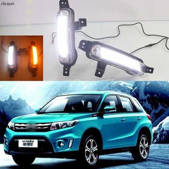 CSCSNL 2PCS Car LED Daytime Running Light DRL Fog lamp with yellow Turn Signal For Suzuki Vitara 2015 2016 2017 2018 2019 2020 - DISCOUNT ITEM  20 OFF Automobiles & Motorcycles