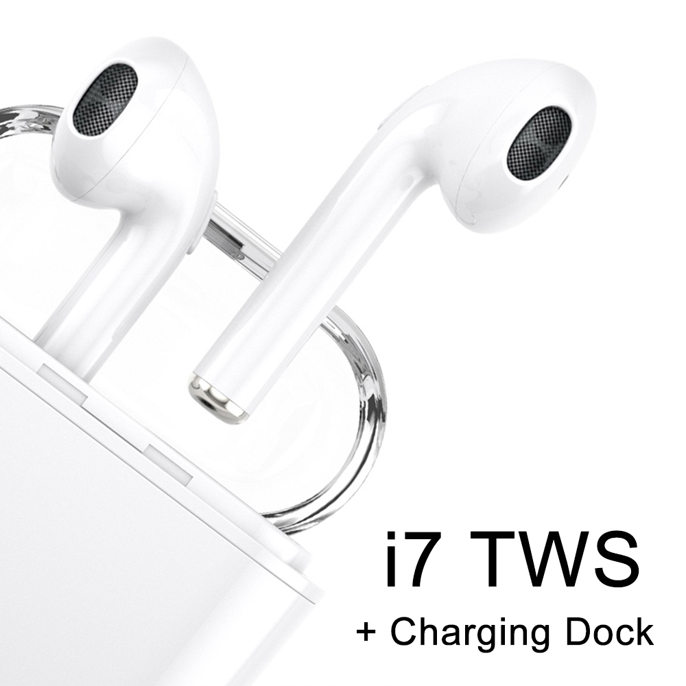 TWS I7 Bluetooth 5.0 Earphone + Charging Dock Station In Ear True Wireless Earbuds Without Wired Earphones Universal For Phone
