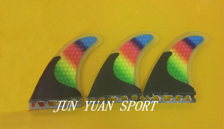 ФОТО High quality!Latest style PC Rainbow surfboard surfing fins with half carbon material surf fins/surfboard fins,Free shipping!