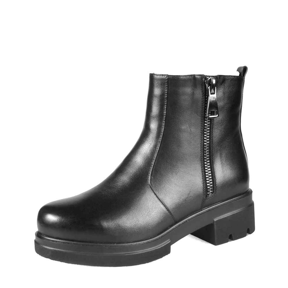 LIDIAN-Women-flat-heel-Ankle-Boots-high-quality-Genuine-Leather-Shoes-woolfur-Inside-Autumn-Fashion-Black (5)