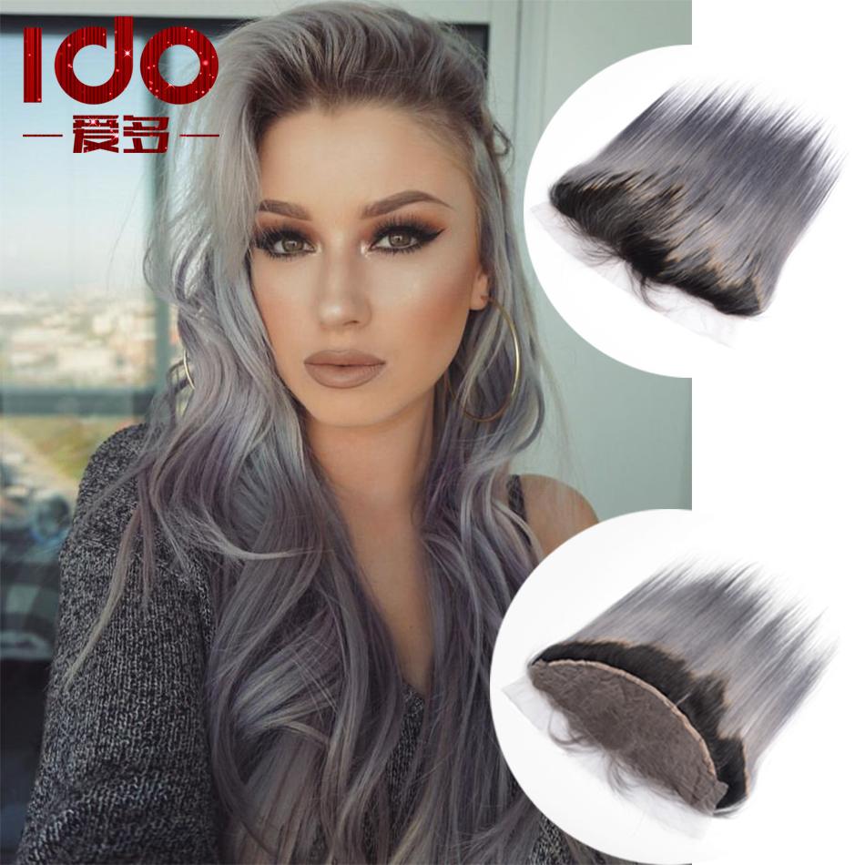 Black Friday Deals Brazilian Straight Virgin Hair 1B Grey Lace ...