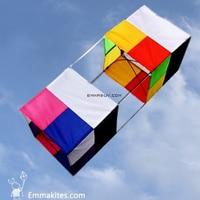 FREE SHIPPING High Quality 3D Box Kite Single Line Delta Kites Outdoors Sports Toys Kids Play