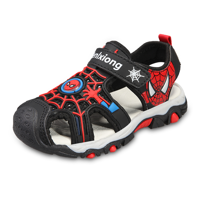 Children Boys sandals fashion spiderman shoes cut outs soft and light child beach sandals boys summer kids canvas shoes for boy in Sandals from Mother Kids