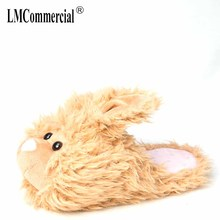 rabbit Custom slippers Home House Slippers Children indoor bear Lovers Warm Woman Slippers Plush Shoes women winter slippers