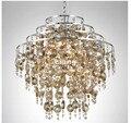 Бесплатная доставка  Роскошные хрустальные светильники K9 d50 см  хромированные светильники для гостиной  Lustre 90 ~ 240 В  люстра  лампа