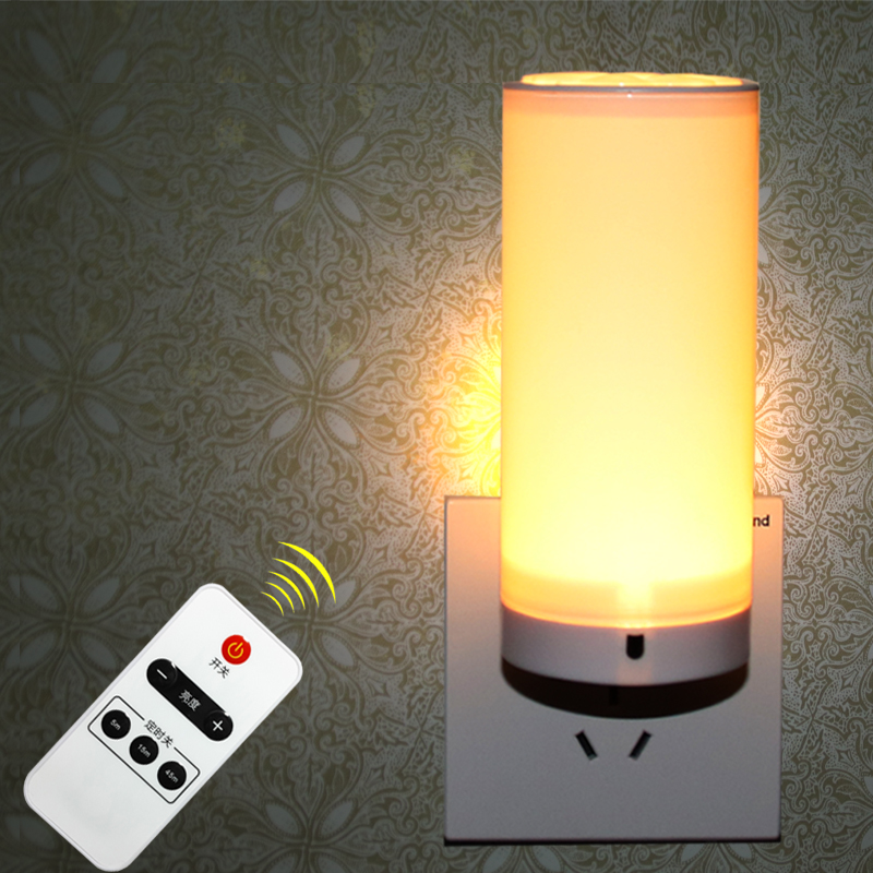 Bright LED Remote Control Night Light Adjustable Light Led Energy Saving Lamp For Baby Bedroom