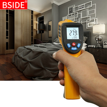 New LCD IR Infrared Thermometer BSIDE GM320 Non-Contact Digital Pyrometer Temperature Meter Gun Point -50~380 Degree Termometr 1 pcs gm320 laser lcd digital ir infrared thermometer temperature meter gun point 50 330 degree non contact thermometer