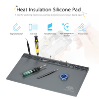 Magnetic Heat Insulation Silicone Pad For BGA Soldering Station Soldering Iron Repair Mat High Temperature Maintenance