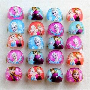 5 шт., детское кольцо Принцессы Диснея с героями мультфильма «Холодное сердце», аксессуары для девочек, подарок на день рождения, вечеринка Эльзы, ювелирные изделия, косметическая игрушка