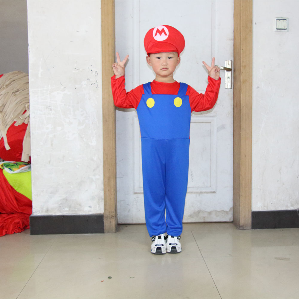 Umorden Halloween Costumes Super Mario Luigi Կոստյումներ - Կարնավալային հագուստները - Լուսանկար 2