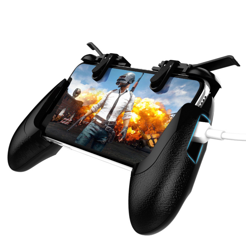 Mobile Game Controller Fortnited Free Fire PUGB PUBG Mobile Joystick Gamepad Metal L1 R1 Button for iPhone Gaming Pad