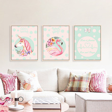 hot deal buy modern cute cartoon animal poster a4 canvas print wall art picture nordic kids baby room art print posters home decor painting
