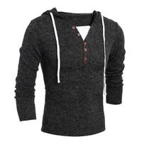 Sweater Pullover Men 2017 Male Brand Casual Slim Sweaters Men Soild Color Hedging Hooded Men S