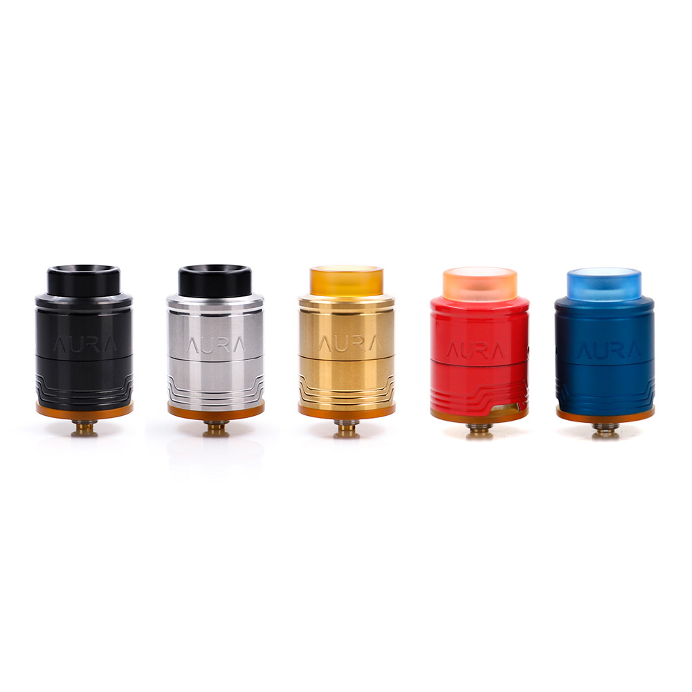 Free gift! Digiflavor Aura RDA Tank Atomizer 1.5ml Build Deck System Deep Reservoir E Cig RDA Tank with Coiling Tool