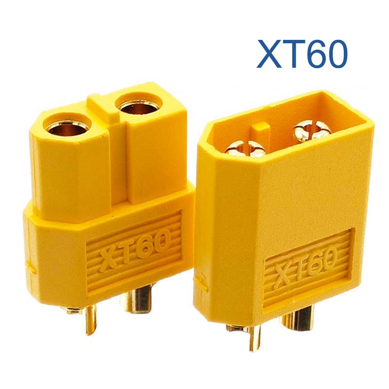 Cable Length Yellow Computer Cables 5 Pairs New XT60 Male /& Female Bullet Connectors Plugs for RC LiPo Battery