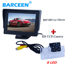 8 led rainproof car parking camera rainproof with 4.3″ car monitor for Nissan Almera /TEANA / Sylphy Altima desktop
