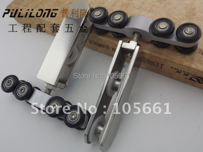 stainless steel glass door hanging pulley( a pair include 2pcs)