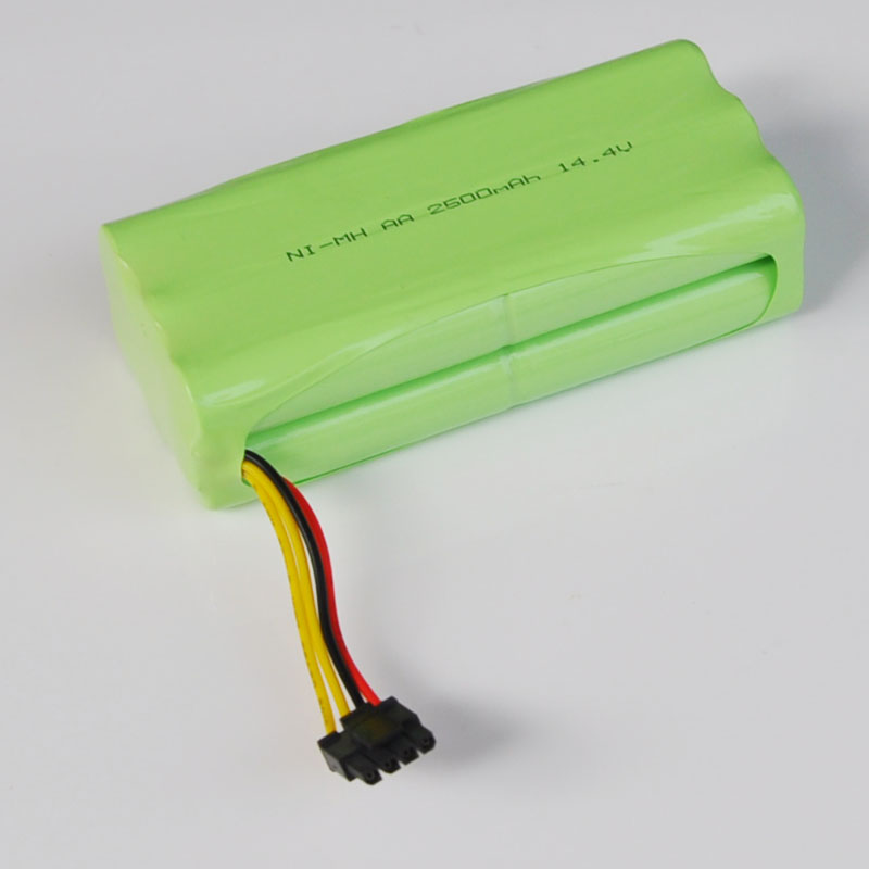 14.4V Ni-MH AA Rechargeable Battery Cell Pack 2500MAH For Ecovacs Deebot Deepoo X600 ZN605 ZN606 ZN609 Vacuum Cleaner Robot