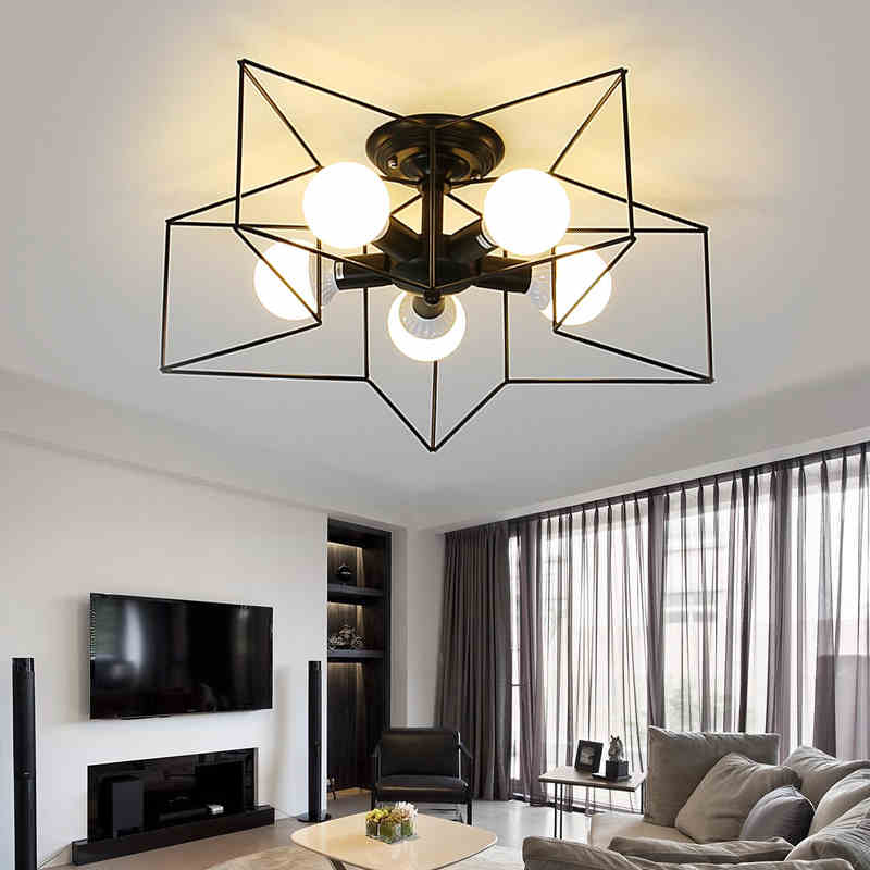 Modern Star Shape LED Ceiling Lights Surface Mounted