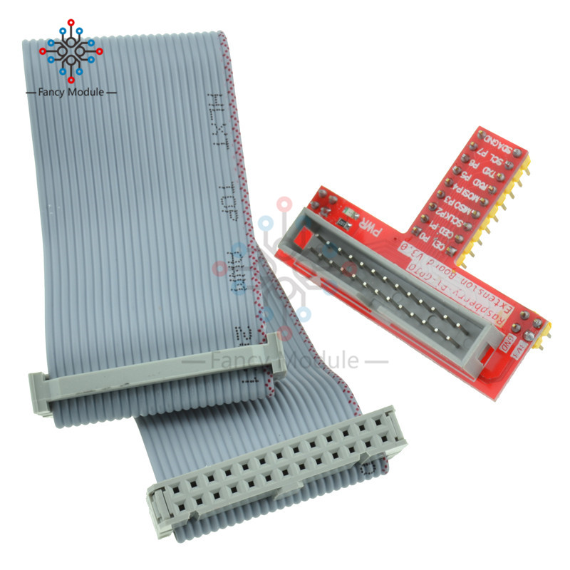 for Raspberry PI GPIO Extension Board + 26 Pin Extension Flat Ribbon Cable Wire стоимость