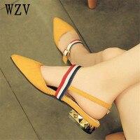 2018 весенние туфли на плоской подошве с острым носком; женские лоферы на низком каблуке; модная повседневная обувь; женская обувь на плоской ...