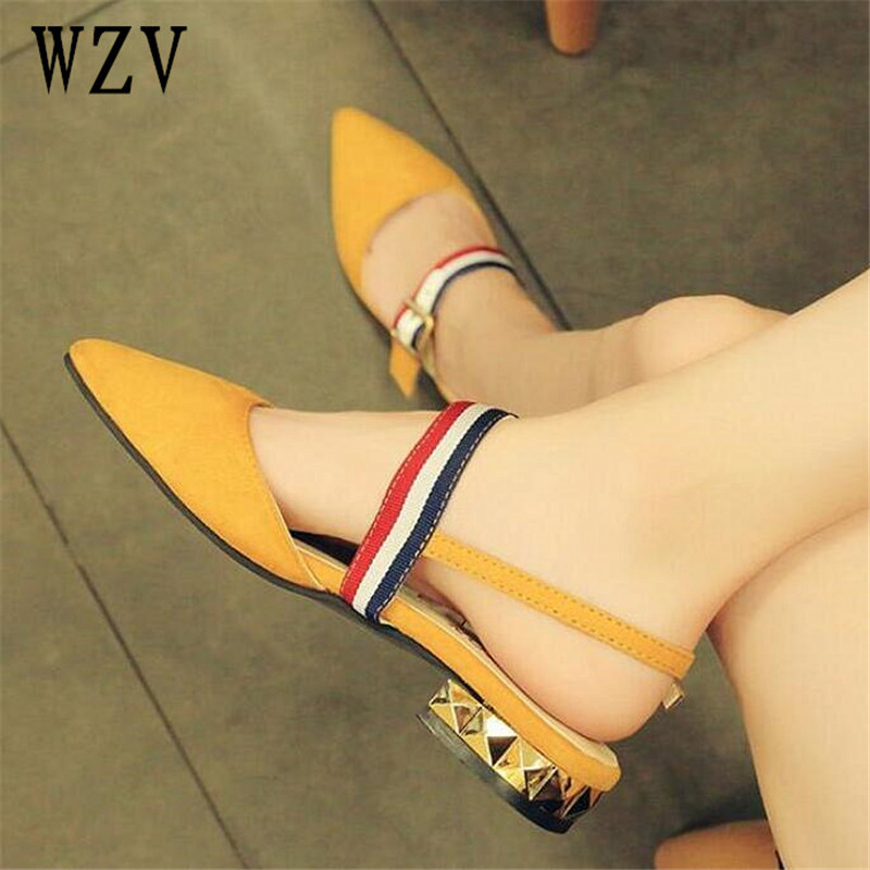 2018 Spring pointed toe Flat Shoes Woman With low Loafers fashion Casual Shoes Women Flats Women Shoes A763