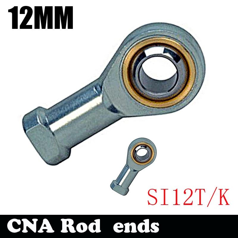 2pcs Free shipping SI12T/K PHSA12 12mm right hand female thread metric rod end joint bearing SI12TK free shipping 2 pcs 16mm female threaded rod end bearing si16t k phsa16