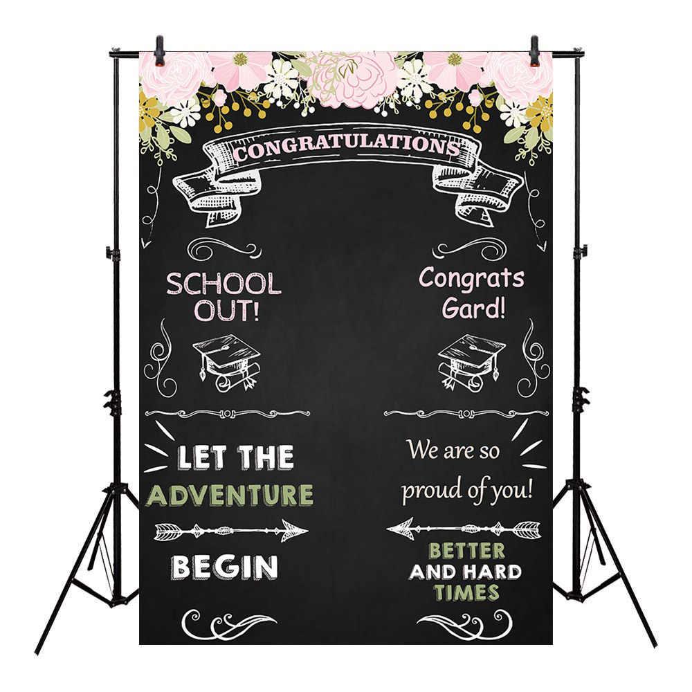 Gratuluj Graduation tło klasa kongratów Grad kwiatowy tablica na studniówkę zdjęcia cukierki tabela deser Party