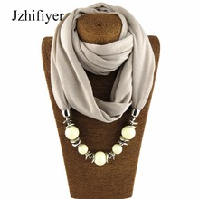 scarf fashion plain beaded pendant necklace scarves women jewelry necklace hijabs muslim scarf headcover neck shawls spike tassel scarf necklace pendants scarves autumn women necklace scarf charm bohemian jewelry gift